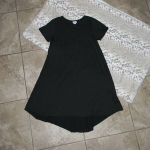 LuLaRoe Solid Black Carly High Low Dress